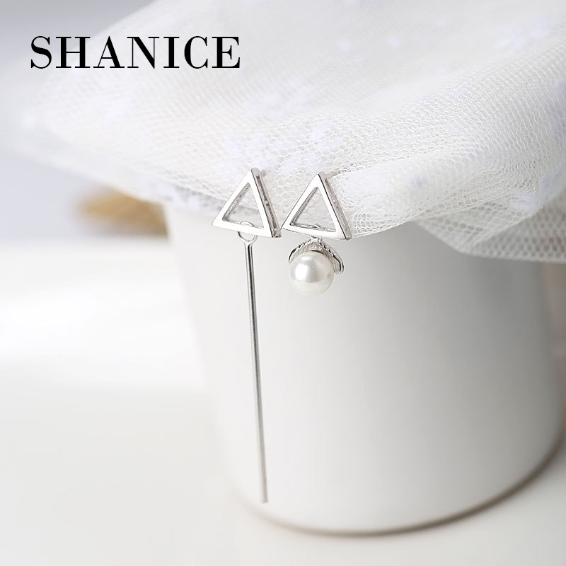 Шанис уникальные жемчужные серьги Модные украшения Для женщин серебро 925 Круглый Мода для девочек элегантный серебристый романтическая Ст...