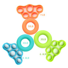 Mayitr 2Pcs/set Silicone Hand Grip Strengthener Finger Stretcher Exercise Gym Fitness Trainer Ring
