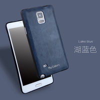 Simple Ultra Thin Silicon PU Leather Original Phone Cases For Samsung Galaxy Note 4 N9100 Telefon