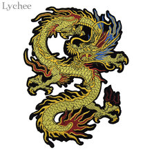 Lychee Embroidery Dragon Patches For Clothing Sew On Sticker Patches Sewing Accessories Clothes Jeans Decoration(China)