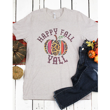 573f1661d13 women t-shirt top happy fall yall letter printed unisex graphic female  Halloween pumpkin fashion