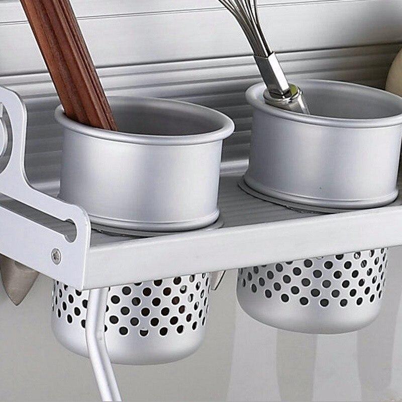 Captivating Aluminum Shelf Kitchen Storage Rack Pantry Pan Pot Organizer Cookware  Holder Hooks Spice Dinnerware Shelf 40 60cm Long In Storage Holders U0026 Racks  From Home ...