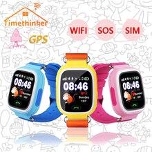 Timethinker Q90 Дети gps Смарт часы дети Wi-Fi расположение сенсорный экран Смарт-часов сенсорные часы с камерой вызова часы с lbs pk Q50 Q60 Q528