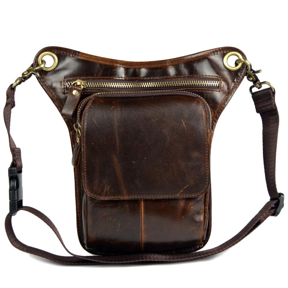 असली लेदर मैसेंजर बैग पुरुषों के लिए पुरुष छोटे कंधे बैग पैर बैग आदमी बैग काउहाइड पट्टा कमर पैक