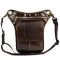 genuine leather messenger bags for men male small shoulder bags leg bags man bags cowhide strap waist pack