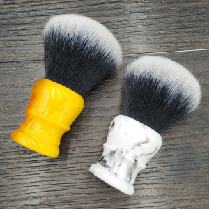 Image 5 - dscosmetic 30mm big Tuxedo Knot synthetic hair shaving brush resin handle by hand made