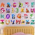 Съемные буквы алфавита водонепроницаемые наклейки на стену из ПВХ DIY дверь детской комнаты Decor