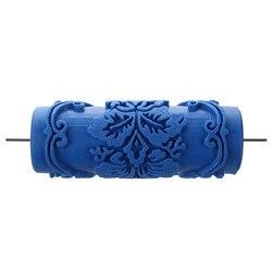 Wałek do farby z motywami dekoracyjnymi do wzorów maszyn kwiaty/niebieski 15 cm w Zestaw narzędzi do malowania od Narzędzia na