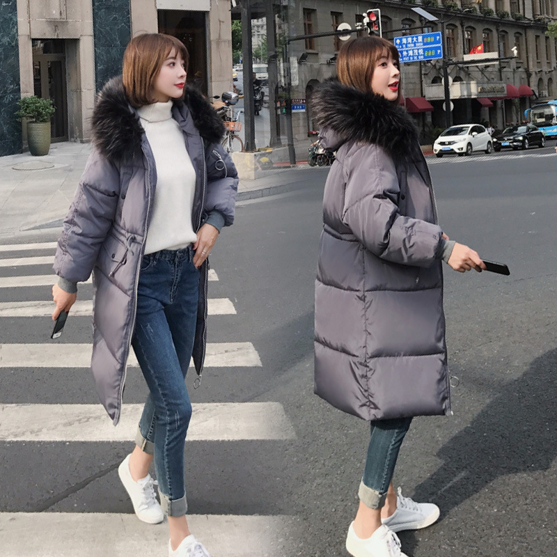 Jackets & Coats Style Office Lady Winter Warm Long Woman Parkas Pockets Korean Style Solid Zipper Hooded Thick Female X Long Sleeve Parkas Women's Clothing