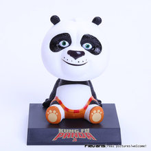 "Movie Kung Fu Panda 3 Po Bobble Head Car Toys PVC Figures Collectible Model Gift 4"" 10CM(China)"