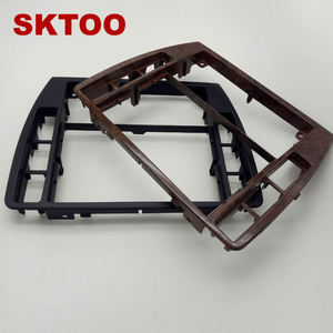 Image 2 - SKTOOFor VW PassatB5 Middle Escutcheon Center Decorative Box Dashboard Console Panel CD Recorder Frame Radio Face Trim 3B0858069