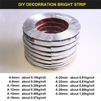 15M Silver Car Chrome Styling Decoration Moulding Trim Strip Tape Auto DIY Protective Sticker