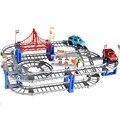Variedad de vagones de ferrocarril pista de Velocidad eléctrico juguete del rompecabezas de múltiples capas de carreras por carretera