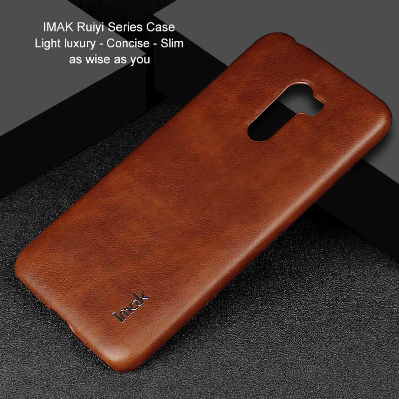 IMAK for Xiaomi Pocophone F1 case leather Ruiyi Series