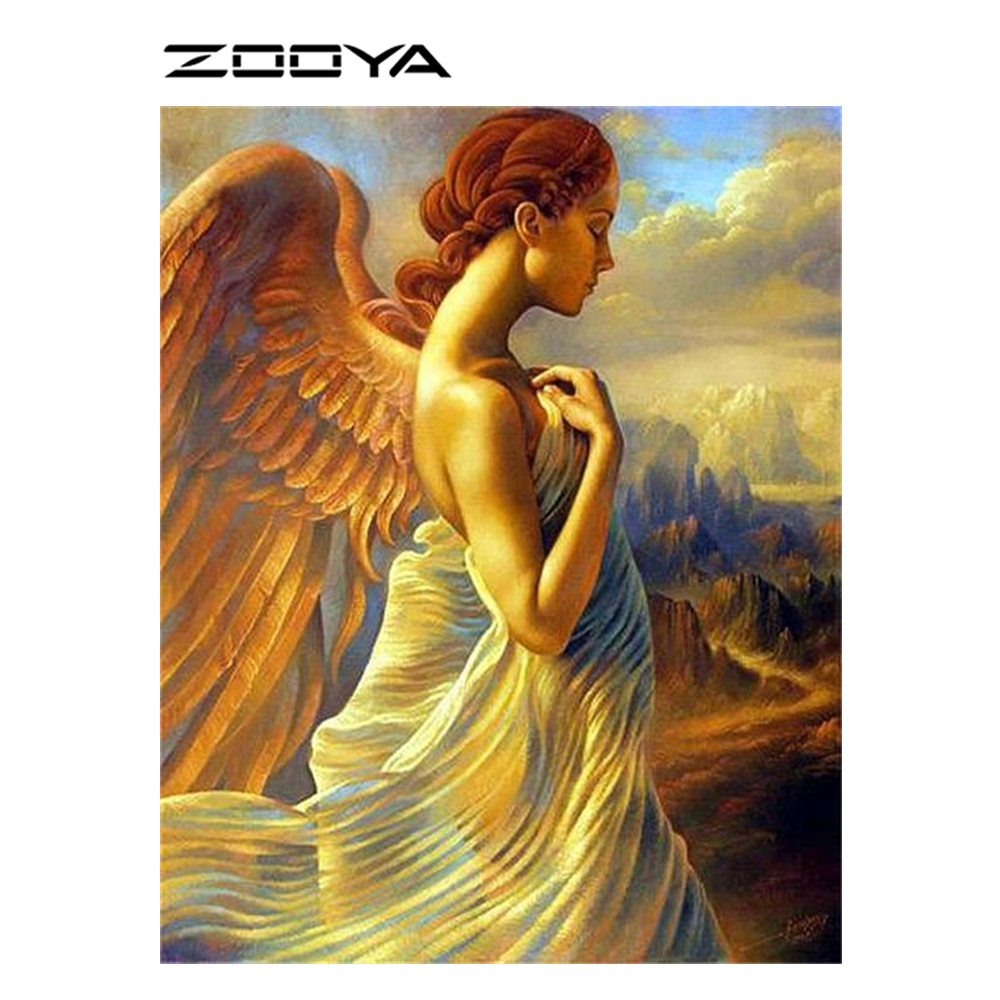 ZOOYA DIY Diamond Painting Angel Wings Beautiful Household ...