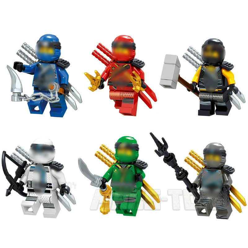 NINJA Building Blocks Moive Series Action Figures With Weapons Compatible LegoINGly Ninjagoes Set Master Wu Lloyd Jay Toys 2019 NINJA Building Blocks Moive Series Action Figures With Weapons Compatible LegoINGly Ninjagoes Set Master Wu Lloyd Jay Toys 2019