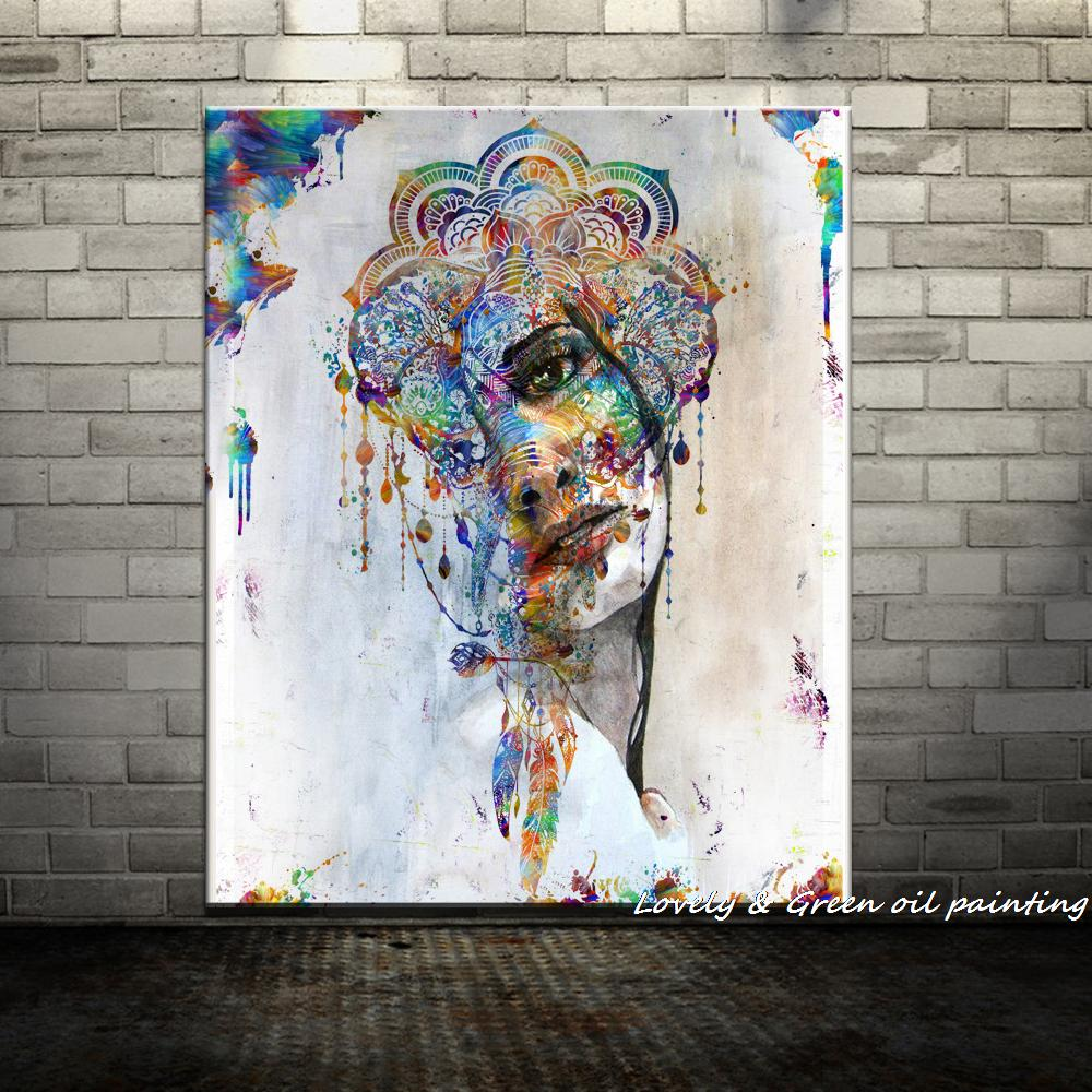 Handpainted Sprint Beauty Girl Sad Modern Oil Paintings On Canvas Wall Painting Art Wall
