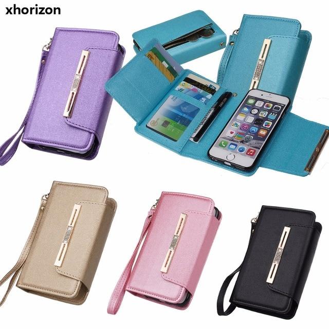 wholesale dealer a47d9 1a7fe US $11.99  Bling Glitter Magnetic Removable Detachable Wallet Case Car  Mount Phone Holder Compatible Case for iPhone for Samsung for LG-in Wallet  ...