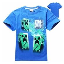 Boys girls t shirt brand short sleeve tops tees summer autumn 4-14 Years children's t-shirts big kids games cartoon clothing