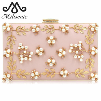 Milisente Bags for Women 2018 Flower Evening Bag Ladies Clutches Party Bags Female Beaded Wedding Clutch Purses