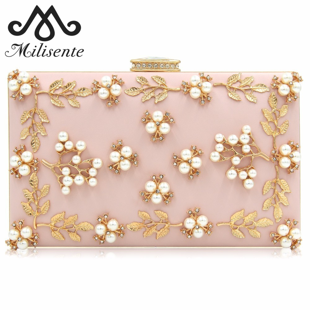 Milisente Bags for Women 2018 Flower Evening Bag Ladies Clutches Party Bags Female Beaded Wedding Clutch Purses retro 2017 floral beaded handbag women shoulder bags day clutch bride rhinestone evening bags for wedding party clutches purses