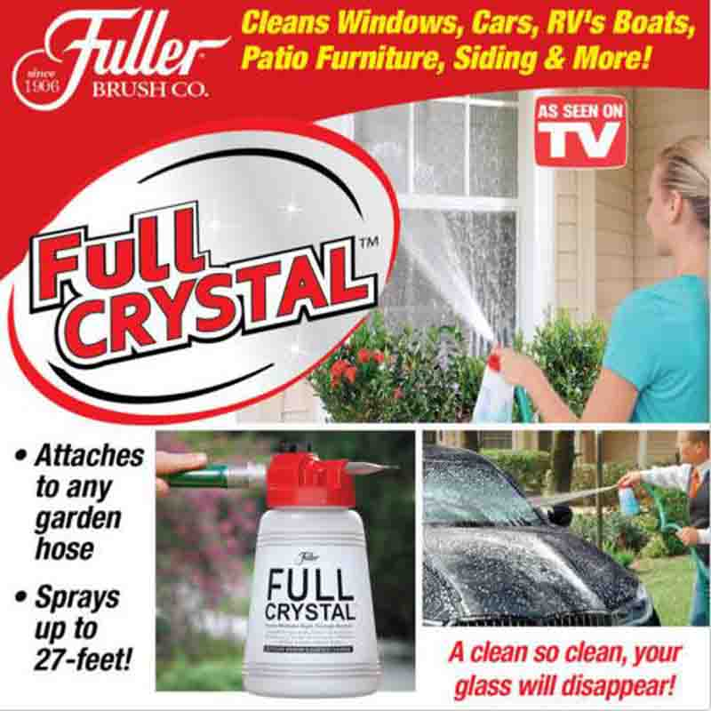 Full Crystal Outdoor Glass Cleaner Home Garden Handheld Spray Mighty Fuller Cleaning Tool Brush with Optional Crystal Powder