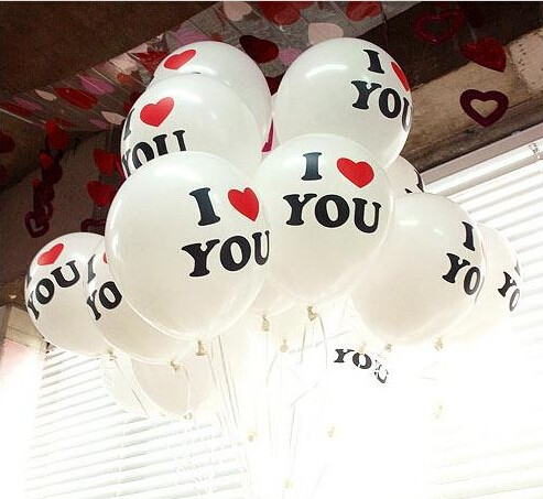 Ballons & Accessories 10pcs/lot 12inch I Love U Pearl Latex Balloon Float Air Balls Inflatable Wedding Birthday Christmas Party Decoration Toys