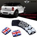 4pcs Mini Cooper countryman paceman R60 R61 Car door rust resistant door lock buckle cover union jack style