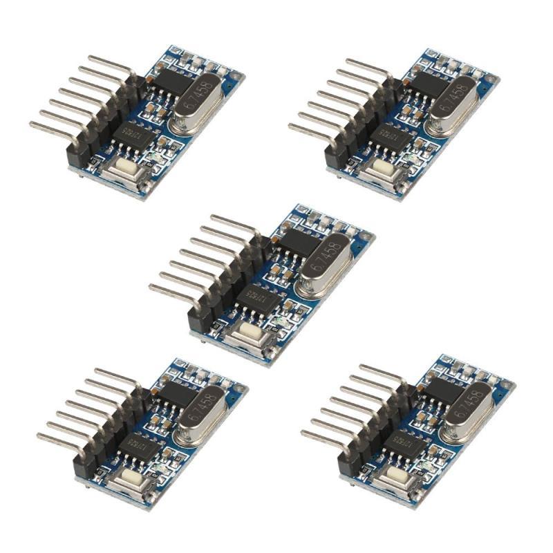 5 Pcs 315 MHz/433 MHz RF Relais Récepteur Contrôle Module D'apprentissage Code DIY Télécommande Commutateur Motos Porte porte de Garage Ouvre
