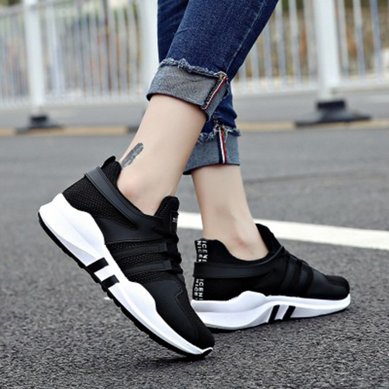 2018 white pink air mesh student casual flat breathable lace up outdoor women shoes lightweight woman sneakers shoes instantarts spring women air mesh flat shoes breathable golden retriever shiba inu flower sneakers woman casual flats big size