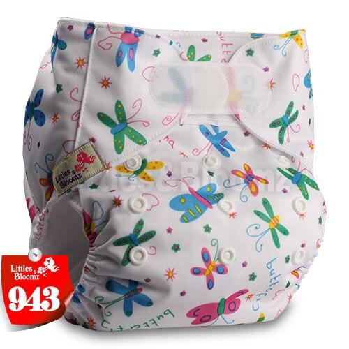 [Littles&Bloomz] Детские Моющиеся Многоразовые, настоящая стандартная ткань, застежка-липучка, карман для подгузников, пеленки, обертывание, подходит для рождения в горшке - Цвет: 943