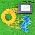 KELUSHI 1*16 PLC Волоконно-Оптических Cble Splitter Box Тип 1x16 Кассеты Оптоволоконный Кабель Ветвления Устройства Оптовая цена