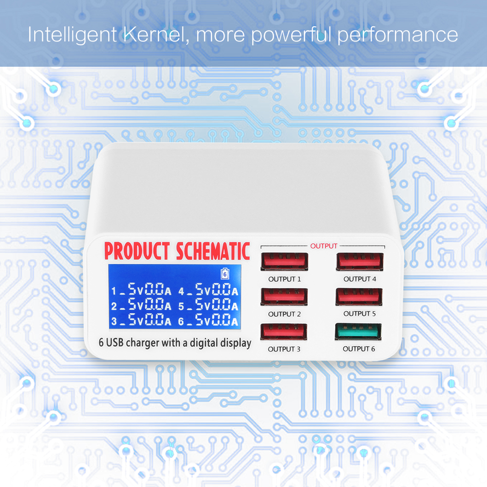 powstro usb charger portable multi usb port rapid charger 6 port usb socket  fast charger with