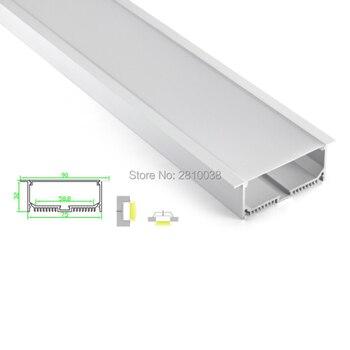 10 סטים\חבילה T סוג Anodized LED אלומיניום פרופיל Extruded אלומיניום led פרופיל LED אלומיניום ערוץ פרופיל לתקרה או קיר