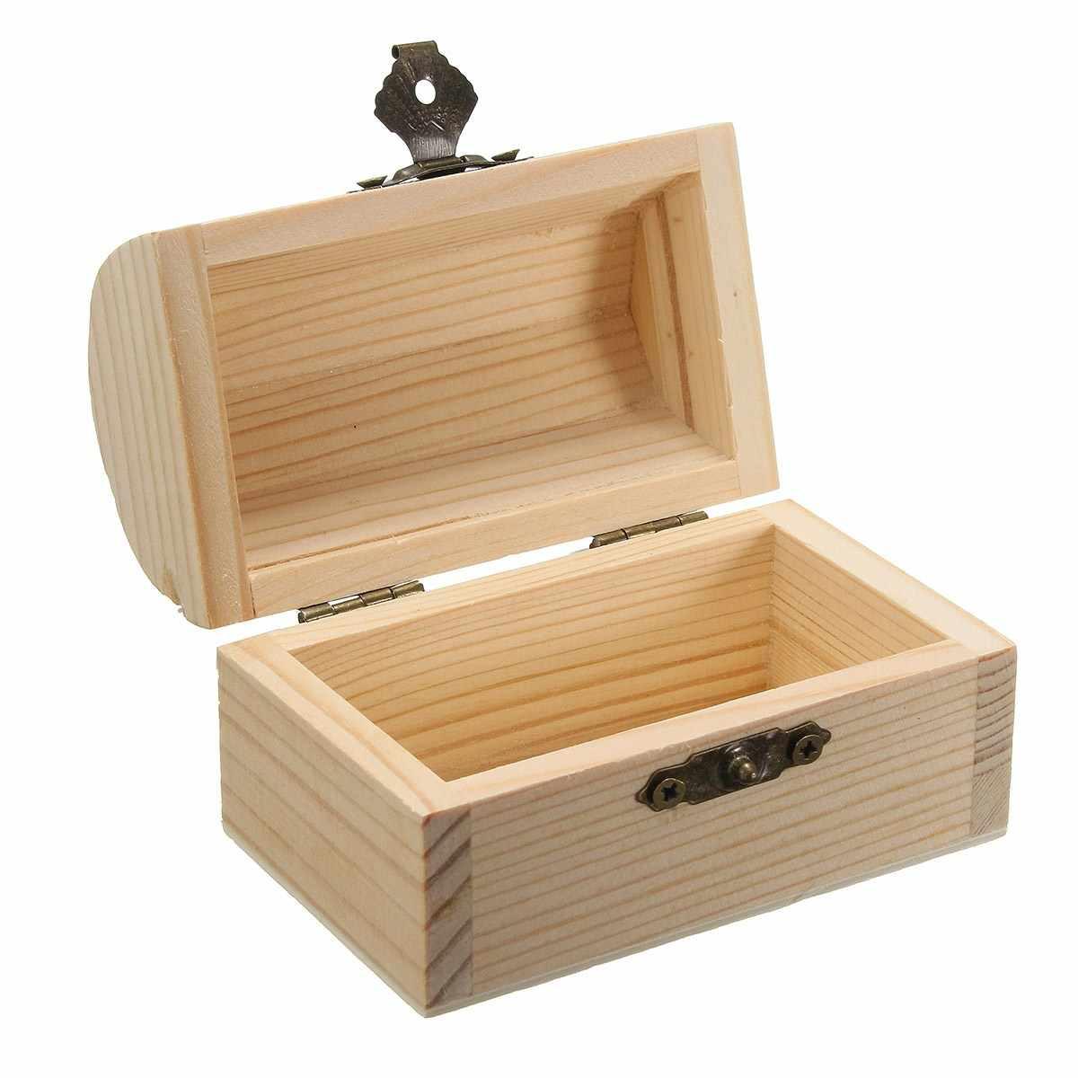KiWarm многофункциональная коробка для хранения из натурального дерева с крышкой, открытка, Домашний Органайзер ручной работы, ювелирный кейс, банка, декоративная коробка