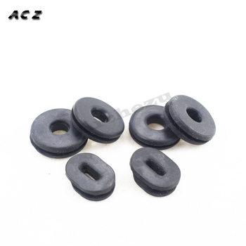 For Suzuki RV90 GT750 GS550 GN400/250 EN125 GS125 GN125 Motorcycle Plastic Side Cover Rubber 6PCS Motocross Grommet Seal Pads image