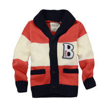MamaLove NEW Autumn/Winter Long Sleeve Boys Sweater for Boy Cardigan Childrens Thermal 2-9years Warm Outerwear Sweaters