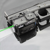 Optics Blackout Tactische Pistool Pistool Wapen Zaklamp met Groene Laser Dot Sight fit 20mm Weaver Rail voor Glock 17 19