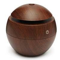 Mini Wooden Aromatherapy Humidifier Aroma Diffuser Air Purifier Color Changing LED Ultrasonic Mist Maker Humidifiers 130ML