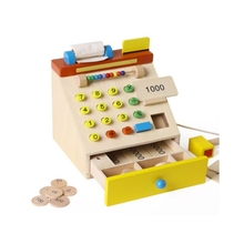 Children Pretend Play checkout counter Toys for Baby Kids Wooden Tool Role Classic baby wooden Educational toys