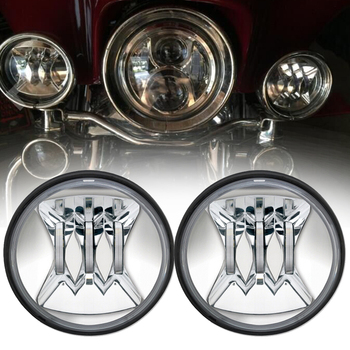 2pcs 4.5 inch Motorcycle Led Fog Light Led Fog 30W Round Waterproof 4 1/2 Auxiliary Passing Lamp