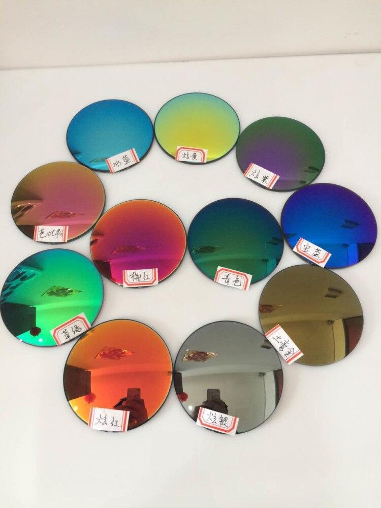 2 pièces/paire asphérique Index1.56 mince Cr-39 lunettes de soleil lentilles de prescription lunettes de soleil 14 couleurs lentilles myopie/presbytie lentilles