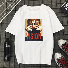 De tendencias primavera y el verano de algodón Tops mujer T Shirt moda  casual Harajuku camiseta d8a629e21c5