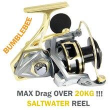 Angler Dream Saltwater Sea Fishing Spinning Reels 5.2:1 Ratio Max Drag 20kg CNC Metal Spinning Fishing Reels Size 2500-5000