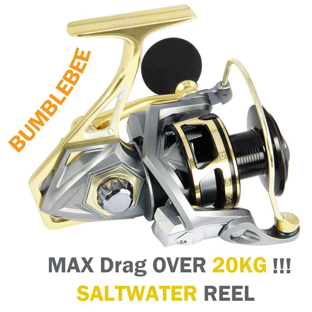 Pescatore di Sogno In Mare Acqua Salata Bobine di Pesca Spinning 5.2: 1 rapporto Max Trascina 20 kg CNC Filatura di Metallo Mulinelli Formato 2500-5000