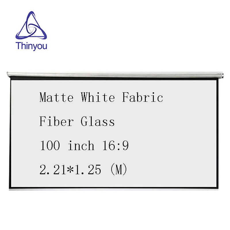 Thinyou Matte White Fabric Fiber Glass Curtain 100 inch 16:9 projector screen For Home meeting support LED DLP Projector support for customfree shipping 120 inch projector mount screen 16 9 gf grey