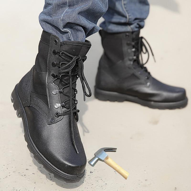 Black Military Tactical Boots Men