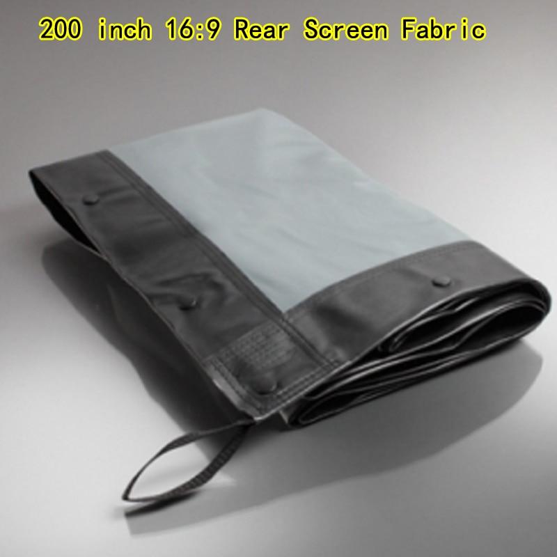 Tela de pantalla trasera HD de 200 pulgadas para pantallas de proyección, Marco plegable rápido, buena calidad, sin Flightcase, 16:9
