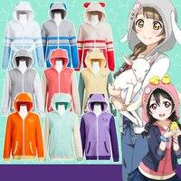 Anime LoveLive Cos Unawakened Girls Autumn Hoodies Zoo Style 9 Colors Casual Jackets Sweatshirts On Sale
