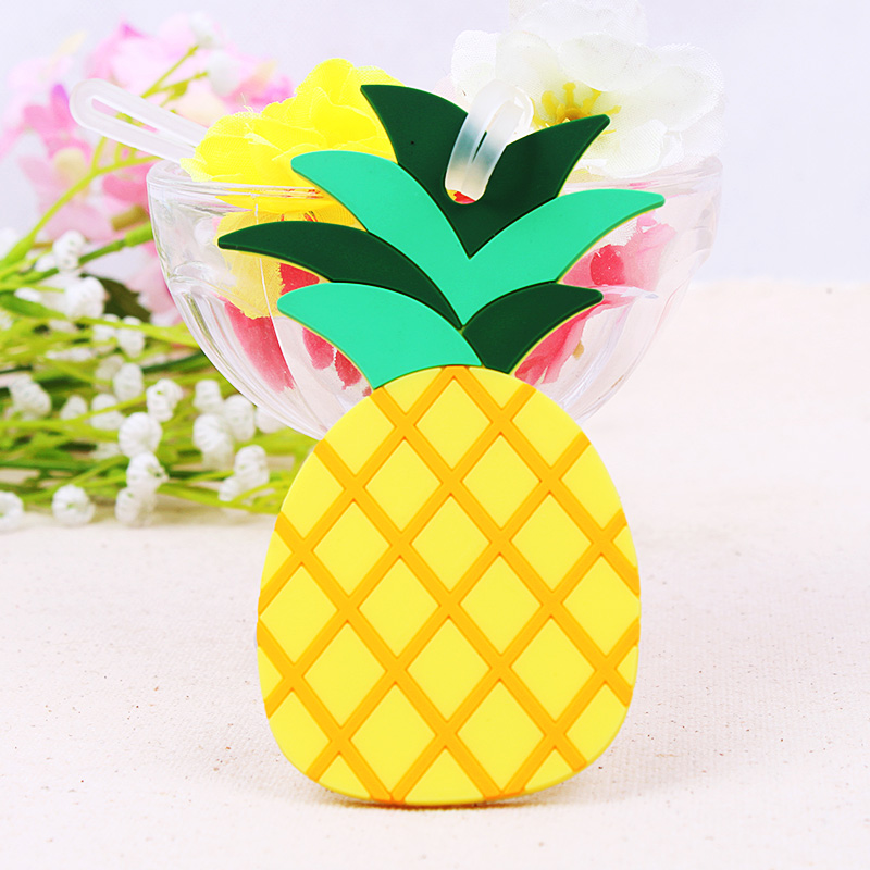 FREE SHIPPING(50pcs/Lot)+NEW ARRIVAL Colorful Pineapple Luggage Tag Wedding Favors Party Giveaway For Guest